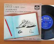 "BR 3011 Tchaikovsky Swan Lake Highlights Ansermet OSR Decca 10"" Mono VG/VG"