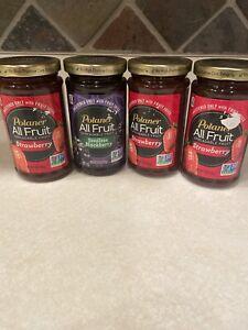 POLANER FRUIT Spread Strawberry & Blackberry, 10 OZ Each Pack of 4)