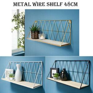 Tromso Shelf Metal Wire Floating Wall Shelf Decor Any Room Display Storage 48cm