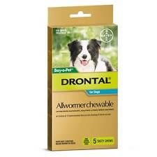 Drontal Dog Allwormer Chewable (100 Pack) 1 Tablet Per 10KG Genuine Bulk