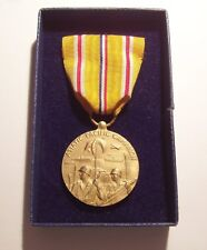 WW II U.S. Navy Asiatic Pacific Campaign Medal in Original Box with Sewn Brooch