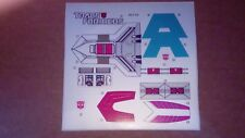 A Transformers premium quality replacement sticker sheet for G1 Quickswitch