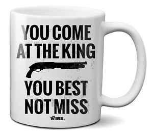 Official The Wire - You Come at The King You Best not Miss Ceramic Mug Cup 330ml