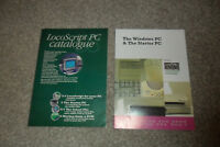 2 Vintage LOCOSCRIPT CATALOGUES For The PC (Amstrad)