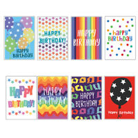 Birthday Card Selection Multipack Pack of 16 Quirky Modern Cards 8 Designs