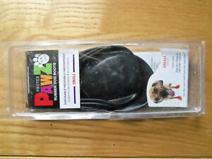 PawZ Dog Boots Water-Proof Paws 12 Disposable Reusable Boots Tiny Black
