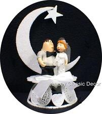 THis Guy Loves his family  Funny  Wedding Cake Topper WHITE Peter & Lois figures