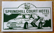 1992 Springhill Court Hotel Stages Rally Carlow Irish Motorsport Sticker / Decal