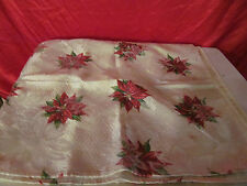 4 Christmas Poinsettia Napkins Clean