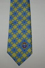 Maddocks & Dick Scotland Blue & Yellow Abstract Polyester Tie Necktie 3 1/2 x 58