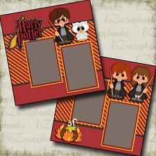 Harry Potter - 2 Premade Scrapbook Pages - EZ Layout 2602