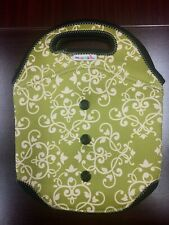 Munchkin Snappy Bottle Tote Neoprene Green Baby Drink Carrier Cooler Holder Bag