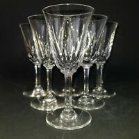 "Six St Louis Crystal Cut Glass Glasses Claret Wine Aperitif Sherry Port 5"" :A6"