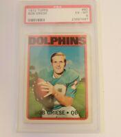 1972 Topps Football Bob Griese PSA 6 Card # 80