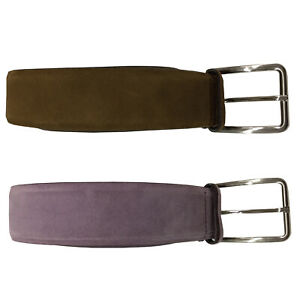 MANIERI Belt Man Suede Height CM 4 100% Leather Made IN Italy