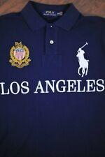 Polo Ralph Lauren Big Pony Los Angeles Polo Shirt Navy Blue Custom Mens Medium M
