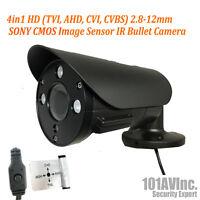 1080P Security Bullet Camera 2.8mm-12mm Varifocal Lens HD TVI CVI AHD CVBS Black