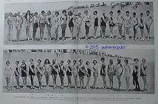 TOURNOI INTERNATIONAL DE BEAUTE A GALVESTON TEXAS 38 MISS FRANCE DE 1927 AD RARE