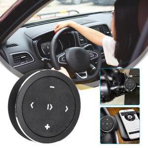 Car Steering Wheel Media Audio Music Wireless Bluetooth Remote Control Button BK