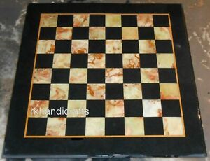 30 Inches Square Marble Coffee Table Top Stone Work Game Board table for Kids