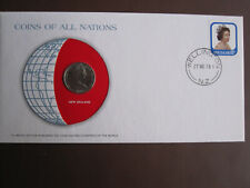 New Zealand 1978 COINS OF ALL NATIONS cover with 10c coin + stamp