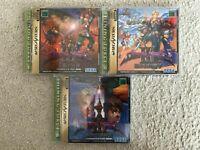 LOT Shining Force III 3 Scenario 1 2 3 Sega Saturn SS NTSC-J Japan IMPORT Tested