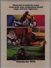 1979 HONDA MOTORCYCLE FULL LINE BROCHURE CBX CB750 CR125R CR250R XR500 XR250 Z50