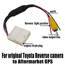 reverse car audio video wire harnesses video harness cable for original toyota reverse camera to aftermarket gps rca oz