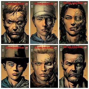 Walking Dead Deluxe #1 2 3 4 5 6 2nd Print Variant Set Options Presale 2/24