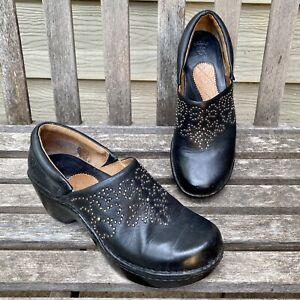 ARIAT Black Western Clogs Shoes Floral Studs 8 B