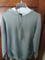 Men's Size 2XG Hoodie, Hooded Zipper Sweatshirt, Light Grey, Razors, Vintage