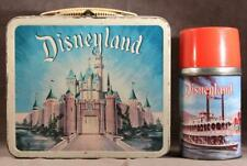 Vintage 1957 DISNEYLAND Castle & Jungle Ride Walt Disney Metal Lunch Box Thermos