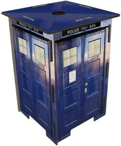 Small Display Stand Side End Lamp Coffee Table Stool Dr Who Tardis Unique