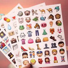 20Pcs Cute Emoji Smile Expression Face Craft Art Plann Journal IPhone Stickers