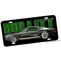 1968 Steve McQueen Movie Bullitt Green Mustang Design Aluminum License Plate
