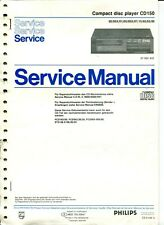 PHILIPS Service Manual Compact DISC-PLAYER CD 150