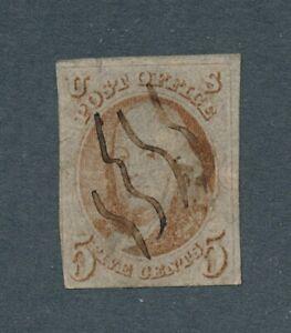 drbobstamps US Scott #1 Used Stamp w/Minor Defect