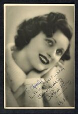 c1938 Photo: Film Actress Dolores Ray: with Autograph