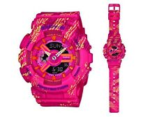 Casio Baby-G * BA110TX-4A Graffiti Pattern Pink Anadigi Watch COD PayPal