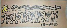 KEITH HARING ORIGINAL SIGNED DRAWING rare marker drawing
