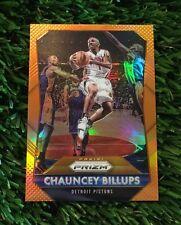2015-16 Panini Prizm Chauncey Billups Orange Prizm #ED /65 Detroit Pistons