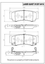 Disc Brake Pad Set-Laser Quiet Ceramic Pads Rear fits 07-09 Hyundai Santa Fe