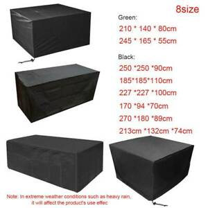 Large Waterproof Garden Patio Furniture Cover Covers Rattan Table Cube Outdoor