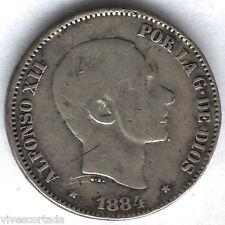 Alfonso XII 1884 Filipinas 50 Ctvos.Manila @@ Bonita @@