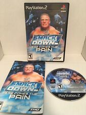 WWE SmackDown Here Comes the Pain PlayStation 2 Complete Tested Black Label CIB