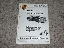 1987 Porsche 911 Turbo Maintenance General Repair Shop Service Manual 1988 1989