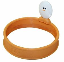 Joie Roundy Silicone Egg Ring w/ Handle - Round Circle Pancake Sandwich Maker