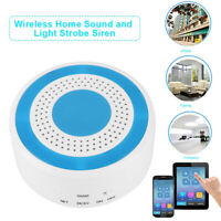 1Pc WIFI Wireless Sound Light Alarm Panel Detector USB Siren GSM Security System