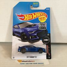 2017 Camaro ZL1 #360 * Blue * 2017 Hot Wheels FACTORY SET * ND9