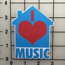 "I love House Music 4"" Tall Color Vinyl Decal Sticker - BOGO"
